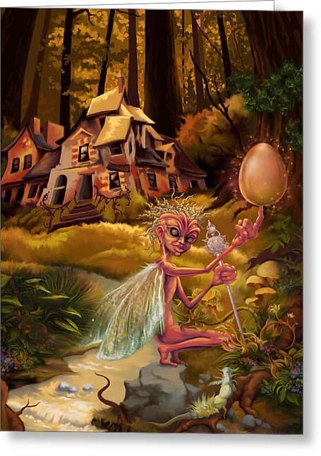 Fantasy World Greeting Cards - Balancing Act Greeting Card by Hans Neuhart