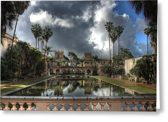 Balboa Park Greeting Cards - Balboa Park Fountain Greeting Card by Jane Linders