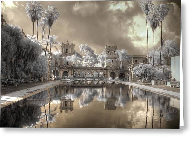 Balboa Park Greeting Cards - Balboa Park Infrared Greeting Card by Jane Linders
