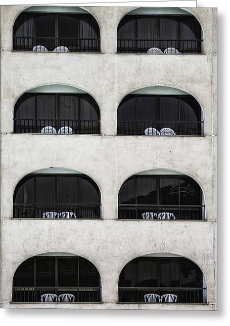 Suburb Greeting Cards - Balconies Greeting Card by Joana Kruse