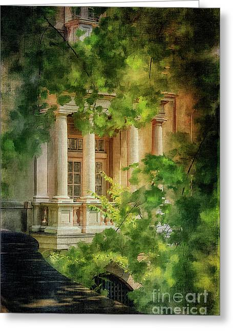 French Doors Greeting Cards - Balcony At Winterthur Greeting Card by Lois Bryan
