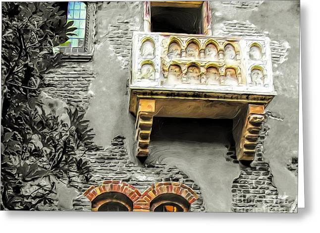 Balcony For Juliet Greeting Card by GabeZ Art