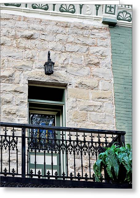 Historic Home Greeting Cards - Balcony View Greeting Card by Jan Amiss Photography
