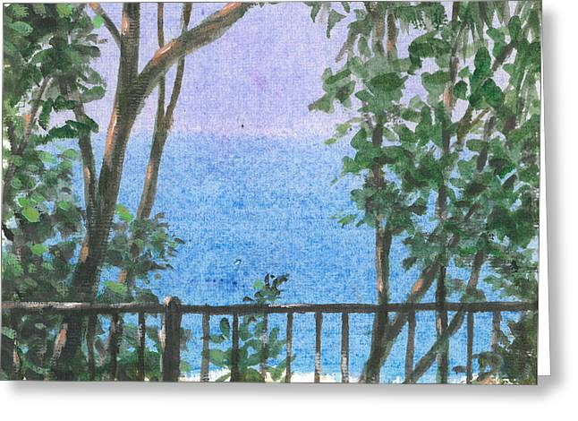 Balcony View Greeting Card by Lincoln Seligman