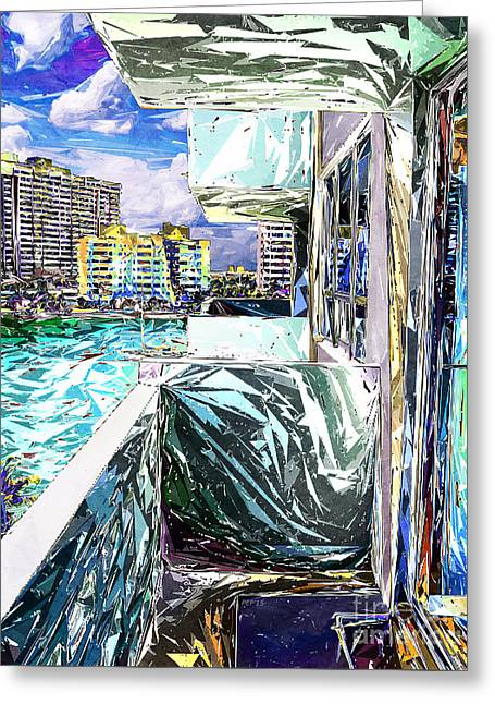 Residential Structure Digital Greeting Cards - Balcony With A View Greeting Card by Phil Perkins