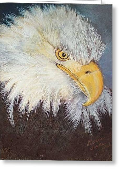 Bald Eagle Pastels Greeting Cards - Bald Eagle Greeting Card by Deane Locke