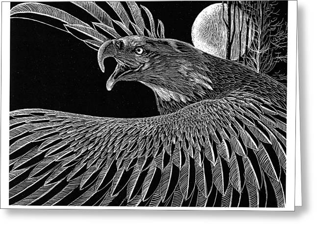 Bald Eagle Greeting Card by Kean Butterfield