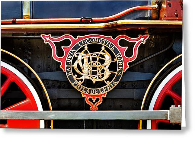 Baldwin Locomotive Works Greeting Card by Mary Jo Allen