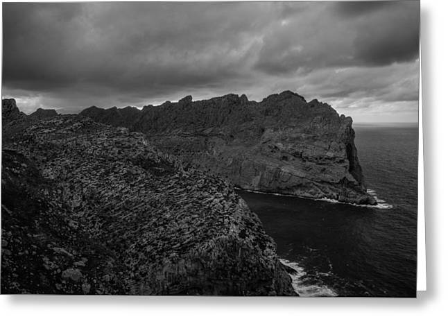 Black Top Greeting Cards - Balearic Storm Greeting Card by Richard Crowhurst