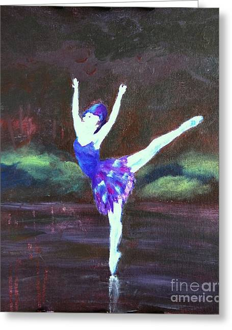 Balerina Greeting Card by Jamie Hartley