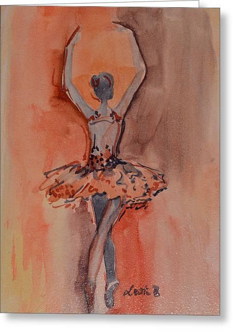 Ballet Dancers Greeting Cards - Balerina Greeting Card by Lee Bauman