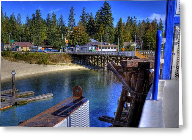 Balfour Bc Docks And Ferry  Greeting Card by Lee  Santa