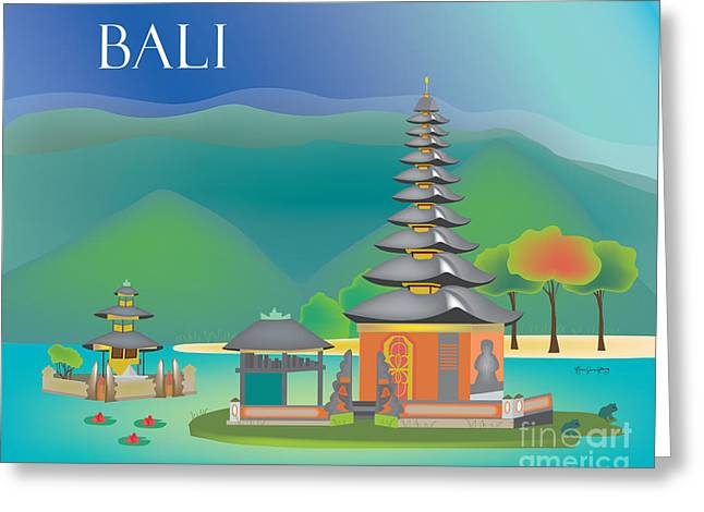 Small Canvas Greeting Cards - Bali Indonesia Horizontal Wall Art by Loose Petals Greeting Card by Karen Young