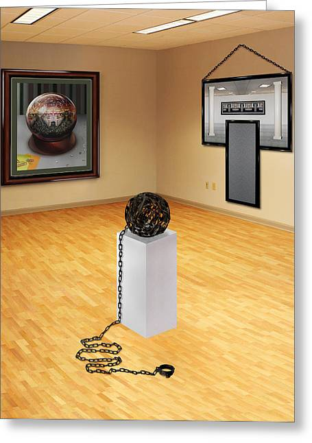 Slavery Digital Greeting Cards - Ball and Chain Greeting Card by Simon Currell