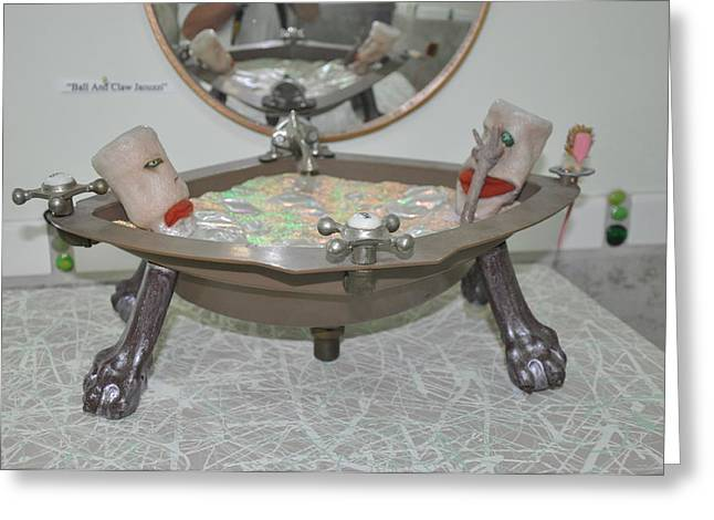 Bubbly Sculptures Greeting Cards - Ball And Claw Jacuzzi Greeting Card by Michael Jude Russo