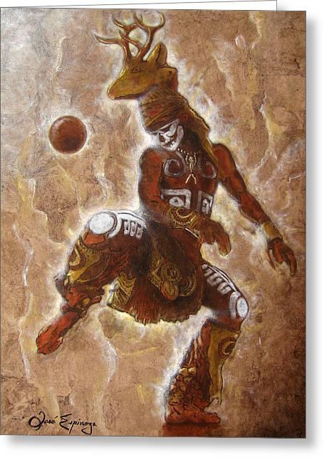 Ball Game Greeting Card by Jose Espinoza