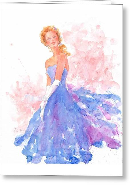 Ball Gown Paintings Greeting Cards - Ball Gown Greeting Card by Deborah Carman