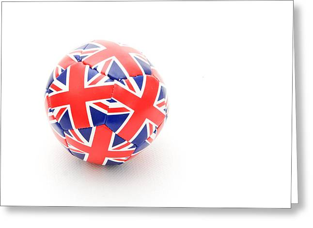 Background Greeting Cards - Ball Greeting Card by Tom Gowanlock