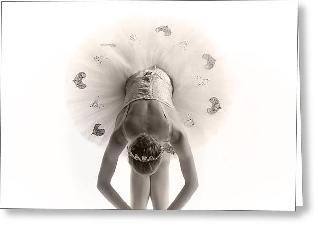 Ballerina bent Greeting Card by Steve Williams