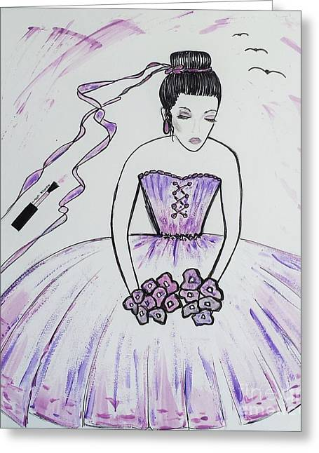 Book Cover Art Greeting Cards - Ballerina Bride  Greeting Card by Jasna Gopic