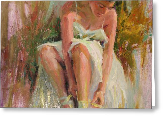 Ballerina Greeting Card by David Garrison