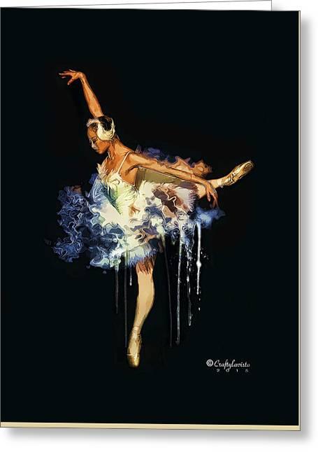 Ballet Dancers Greeting Cards - Ballerina Greeting Card by Debbie Holmes