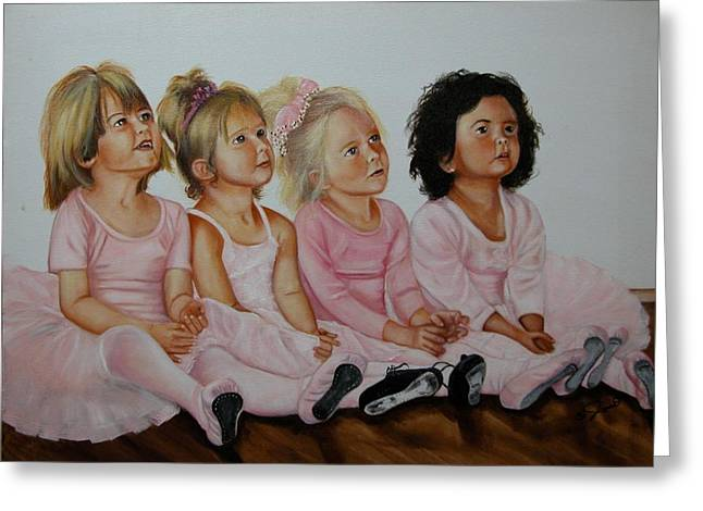 Ballerina Girls Greeting Card by Joni McPherson