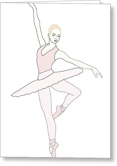 Plies Greeting Cards - Ballerina On Point Greeting Card by Priscilla Wolfe