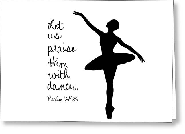 Ballerina Praise Greeting Card by Nancy Ingersoll
