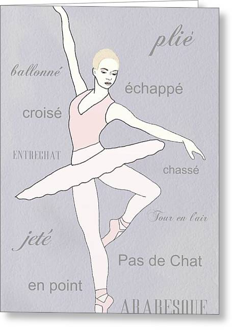 Ballerina Greeting Card by Priscilla Wolfe