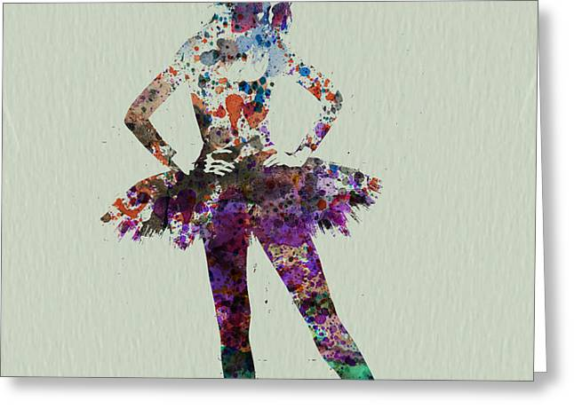 Ballerina watercolor Greeting Card by Naxart Studio