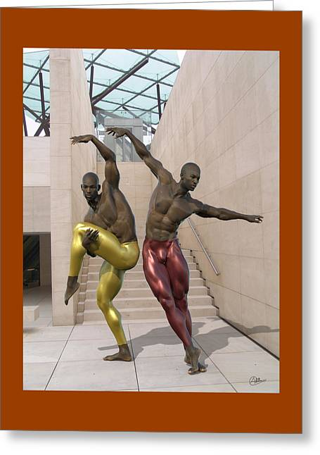 Ballet At The Caixa Forum Barcelona Greeting Card by Quim Abella