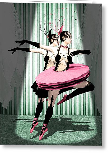 Ballerina Digital Greeting Cards - Ballet By Quim Abella Greeting Card by Joaquin Abella