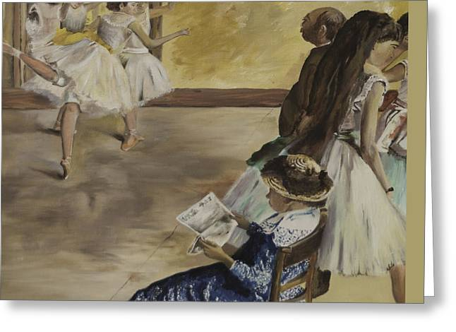 Ballet Dancers Greeting Cards - Ballet Class 1881 Greeting Card by James Lavott