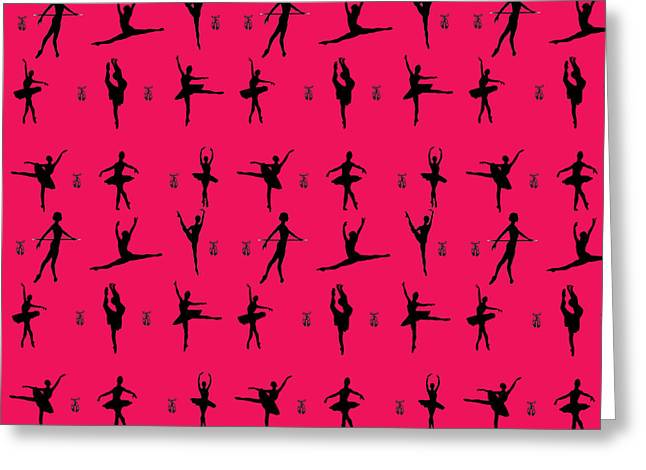 Ballet Dancer Silhouette Greeting Card by Naviblue
