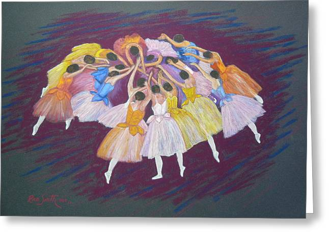 Ballet Dancers Greeting Card by Rae  Smith PSC