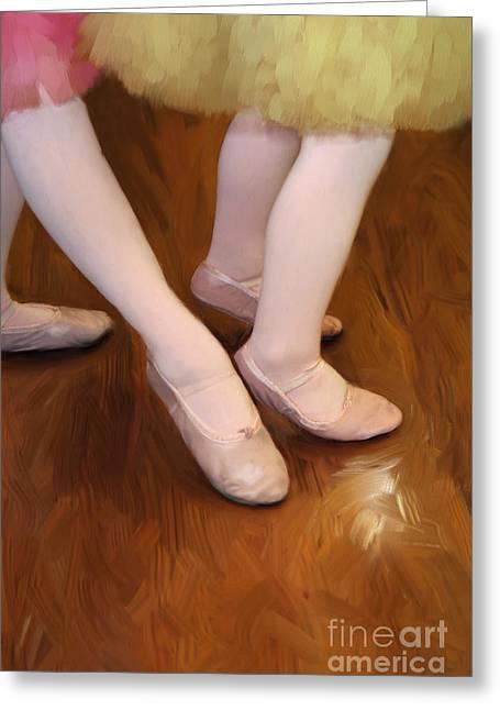 Tutu Digital Art Greeting Cards - Ballet Girls Greeting Card by Jeannie Burleson
