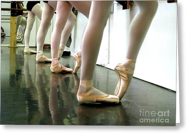 Ballet in studio Greeting Card by Chiara Costa