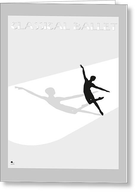 Ballet Dancers Drawings Greeting Cards - Ballet Greeting Card by Joaquin Abella