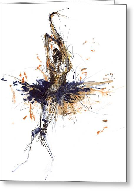 Tutu Mixed Media Greeting Cards - Ballet Obsession Or Raymonda Ballet Greeting Card by Lousine Hogtanian
