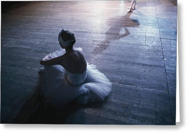 Ballet Dancers Greeting Cards - Ballet Rehearsal, St. Petersburg Greeting Card by Sisse Brimberg