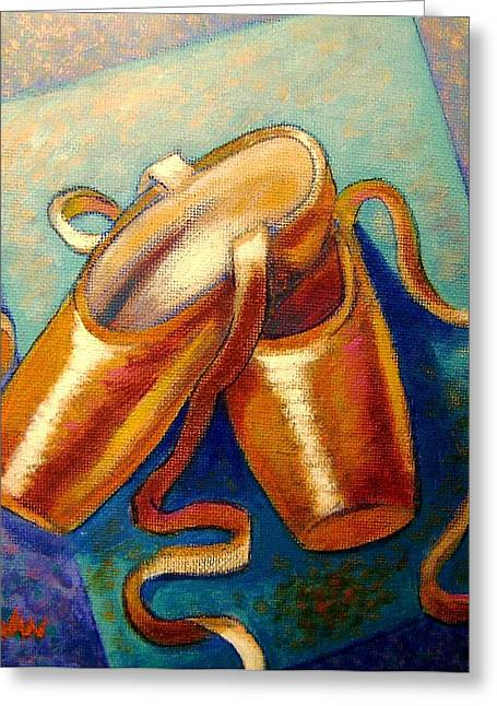 Ballet Shoes Greeting Card by John  Nolan