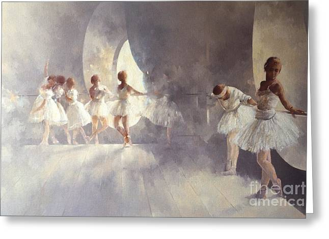 Ballerina Greeting Cards - Ballet Studio  Greeting Card by Peter Miller