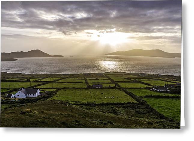 Field. Cloud Greeting Cards - Ballinskelligs Bay Greeting Card by Tony Steinberg