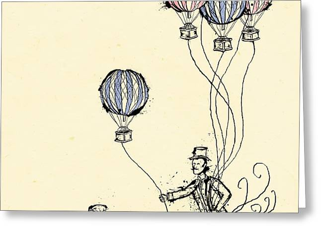 Ballons for Sale Greeting Card by William Addison