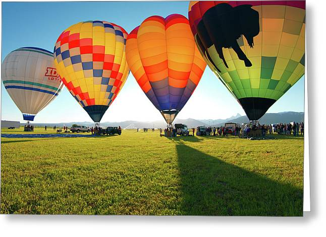 Balloon Glow Greeting Card by Leland D Howard