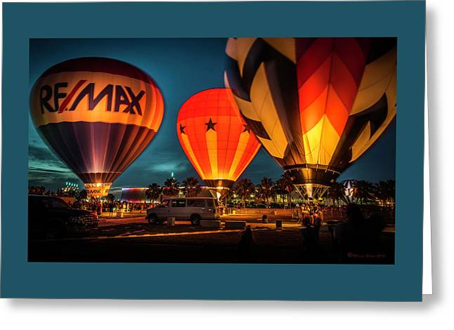 Balloon Glow Greeting Card by Marvin Spates