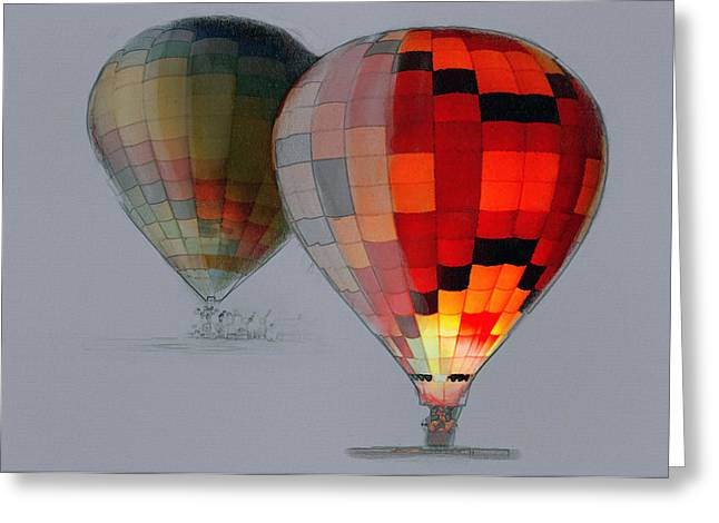 Balloon Glow Greeting Card by Sharon Foster