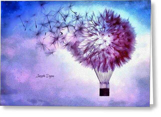 Balloon Greeting Card by Leonardo Digenio