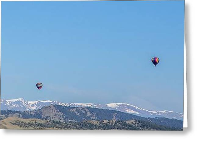 Beautiful Creek Greeting Cards - Balloon Morning Greeting Card by A Different Brian Photography